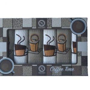 купить Набор кухонных полотенец Nilteks Coffee Time V06 40*60 6 шт