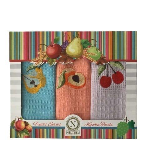 купить Набор кухонных полотенец Nilteks Fruits Series 40*60 3 шт