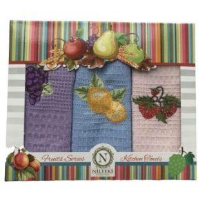 купить Набор кухонных полотенец Nilteks Fruits Series V02 40*60 3 шт