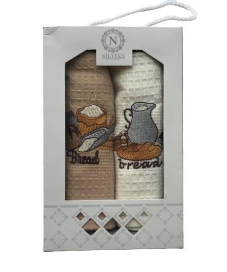 купить Набор кухонных полотенец Nilteks Lux Хлеб 40*60 2 шт