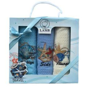 купить Набор кухонных полотенец Nilteks Lux Lamb Travel 40*60 3 шт