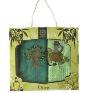 купить Набор кухонных полотенец Nilteks Olive дерево V01 40*60 2 шт