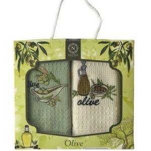 купить Набор кухонных полотенец Nilteks Olive пиала V01 40*60 2 шт