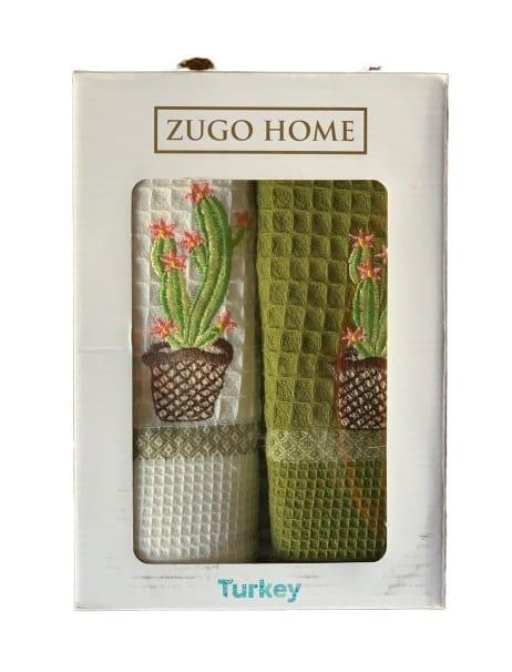 купить Набор кухонных полотенец Zugo Home Cactus V1 40*60 2 шт