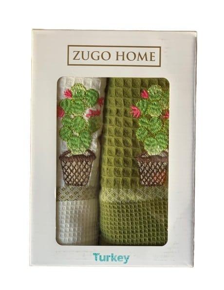 купить Набор кухонных полотенец Zugo Home Curly Cactus V1 40*60 2 шт