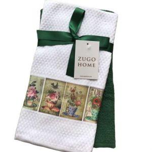 купить Набор кухонных полотенец Zugo Home Flowerpot 40*60 2 шт