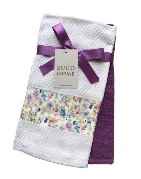 купить Набор кухонных полотенец Zugo Home Garden 40*60 2 шт Фиолетовый