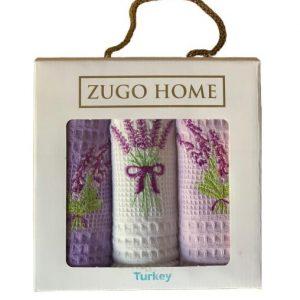 купить Набор кухонных полотенец Zugo Home Lavender V1 30*50 3 шт