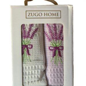 купить Набор кухонных полотенец Zugo Home Lavender V1 40*60 2 шт