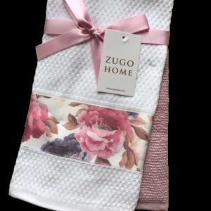купить Набор кухонных полотенец Zugo Home Peony 40*60 2 шт Розовый