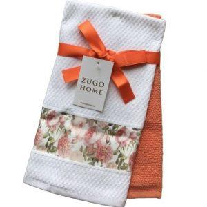 купить Набор кухонных полотенец Zugo Home Rose 40*60 2 шт Оранжевый