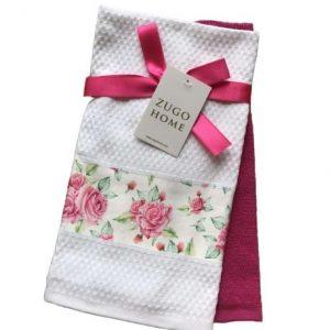 купить Набор кухонных полотенец Zugo Home Rose 40*60 2 шт Розовый