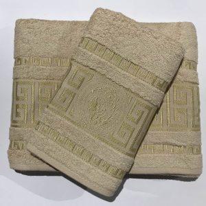 купить Набор махровых полотенец Gold Soft Life Версаче 50*90 и 70*140