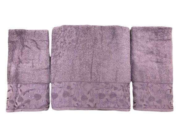 купить Набор махровых полотенец Gold Soft Life For You 50*90(2 шт) и 70*140 Фиолетовый