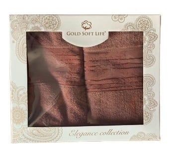купить Набор махровых полотенец Gold Soft Life Lili 50*90 и 70*140 бордо