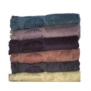 купить Набор махровых полотенец Miss Cotton жаккард Buta 70*140 6 шт