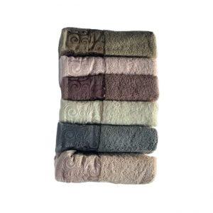 купить Набор махровых полотенец Miss Cotton хлопок Hazal 6 шт
