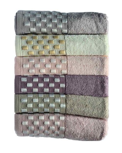 купить Набор махровых полотенец Miss Cotton Bamboo Dama 6 шт