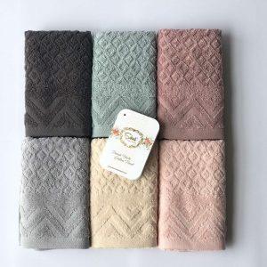 купить Набор махровых полотенец Sikel жаккард Anemon 30*50 6 шт