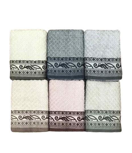 купить Набор махровых полотенец Sikel жаккард Izgu 6 шт