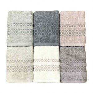 купить Набор махровых полотенец Sikel жаккард Mermer 6 шт
