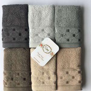 купить Набор махровых полотенец Sikel жаккард Silver 30*50 6 шт