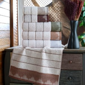 купить Набор махровых полотенец Sikel жаккард Taslama 6 шт