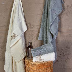 купить Набор полотенец Karaca Home - Fronda Offwhite-Gri 2020-2