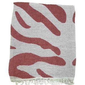 купить Пляжное полотенце Gold Soft Life pestemal Сафари 100*180 Красный_x000D_