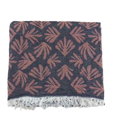 купить Пляжное полотенце Gold Soft Life pestemal Leaf 100*180 Розовый