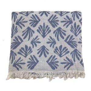 купить Пляжное полотенце Gold Soft Life pestemal Leaf 100*180 Синий
