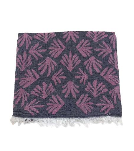 купить Пляжное полотенце Gold Soft Life pestemal Leaf 100*180 pink