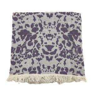 купить Пляжное полотенце Gold Soft Life pestemal Milos 100*180 Фиолетовый