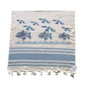 купить Пляжное полотенце Zugo Home Рыбки и Чайки 80*170 Голубой