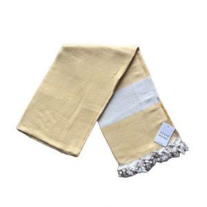 купить Пляжное полотенце Zugo Home Pestemal Elmas 100*180 Желтый