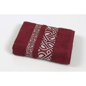 купить Полотенце махровое Cestepe - Vakko cotton бордовый