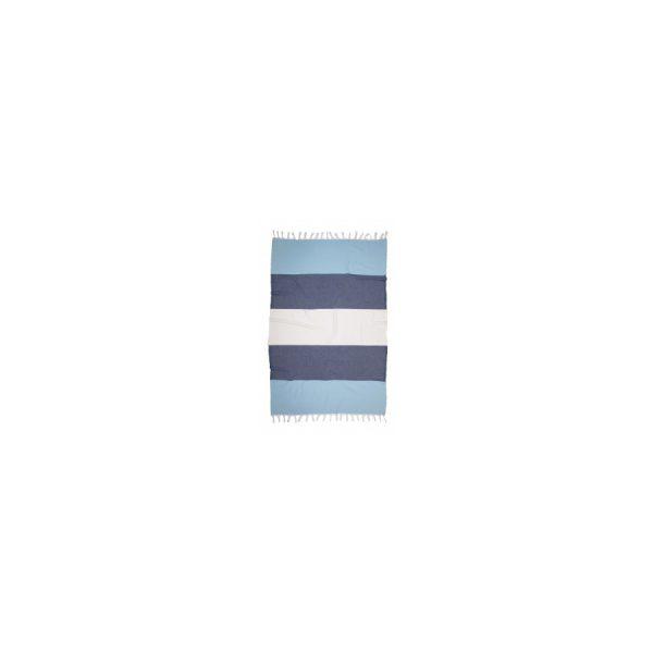 купить Полотенце Barine Pestemal - Block Blue-indigo-white