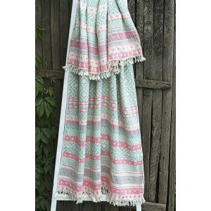 купить Полотенце Barine Pestemal - Morocco Sage-Pink