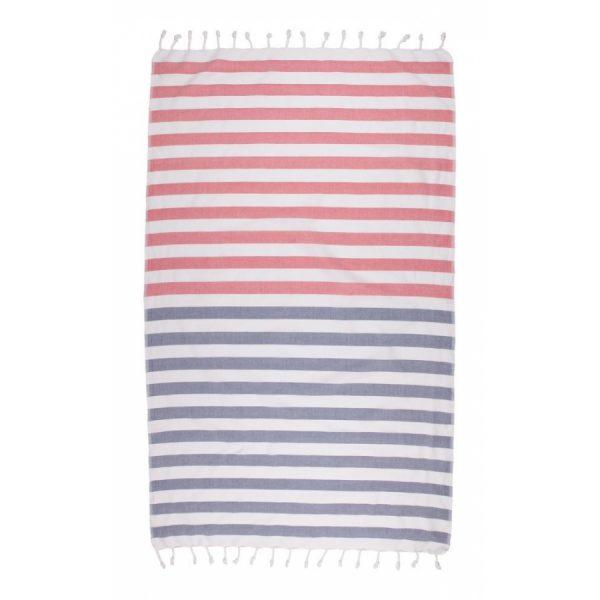купить Полотенце Barine Pestemal - Pier Navy-Red