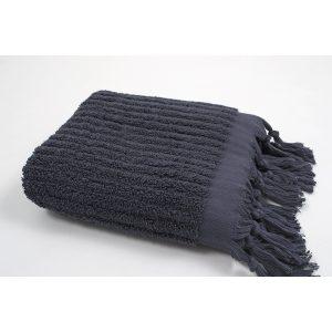купить Полотенце Barine - Rib indigo серый
