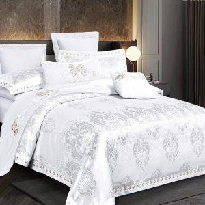 купить Постельное белье Bella Villa Сатин-Жаккард J-0054 Белый фото