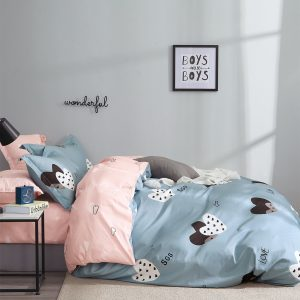купить Постельное белье Bella Villa Сатин B-0241 Голубой|Розовый фото