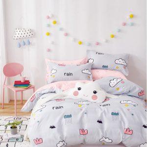 купить Постельное белье Bella Villa Сатин B-0253 Серый|Розовый фото