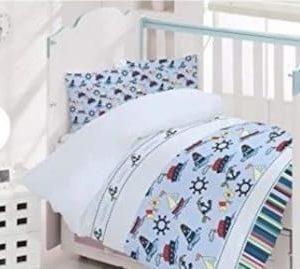купить Детское постельное белье Brielle 133V1 младенцам Голубой фото