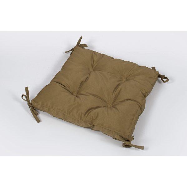 купить Подушка на стул Lotus 40*40*5 - Optima с завязками коричневый