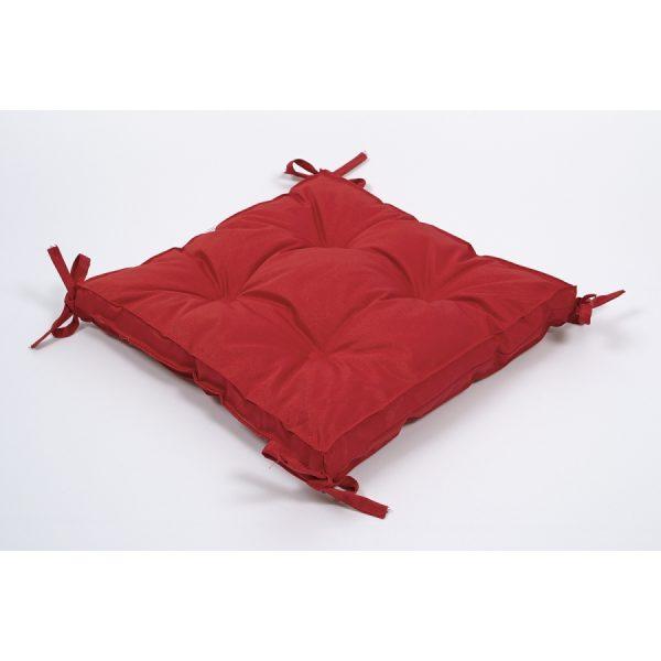 купить Подушка на стул Lotus 40*40*5 - Optima с завязками красный