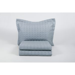купить Покрывало с наволочками Karaca Home - Edenia mavi 2019-1 голубой 240*230
