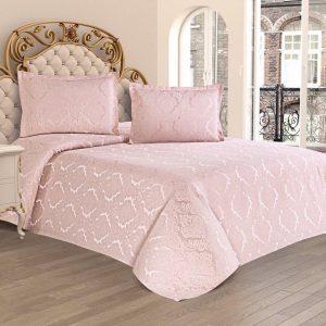 купить Покрывало с наволочками Kubra Class полиэстер Serra 240*260 Розовый