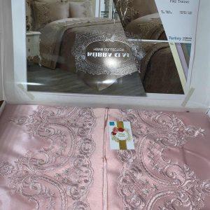 купить Покрывало с наволочками Kubra Class полиэстер Yagmur 240*250 Розовый