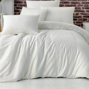 купить Постельное белье La Rita страйп сатин Basic Белый Белый фото
